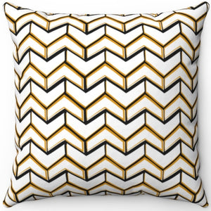 "Fancy White & Gold Boho Arrows 16"" 18"" Or 20"" Square Throw Pillow Cover"