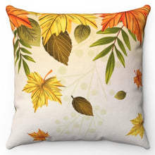 "Load image into Gallery viewer, Falling Autumn Leaves 20"" x 20"" Throw Pillow Cover"