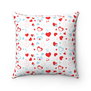 "I Heart You 18"" x 18"" Throw Pillow Cover"