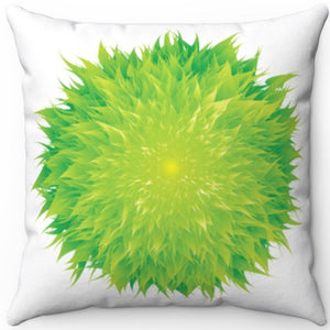 "Flower Power 18"" x 18"" Square Throw Pillow"