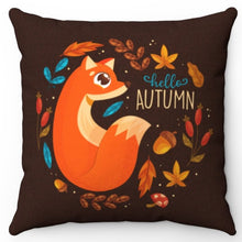 "Load image into Gallery viewer, Hello Autumn Fox 18"" x 18"" Throw Pillow"