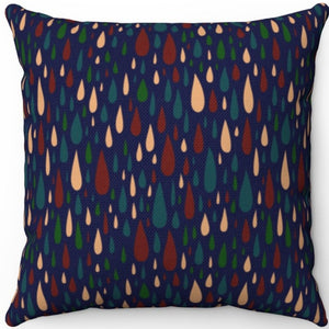 "Drops Of Jupiter Pattern 18"" x 18"" Square Throw Pillow"
