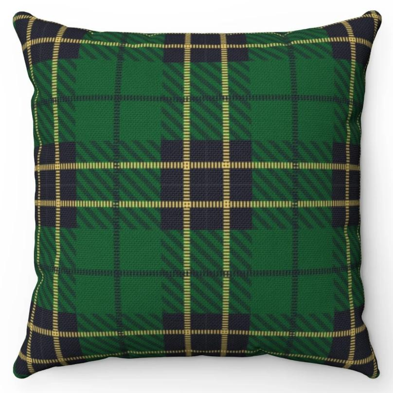 Green Plaid with Yellow Crosslines 18