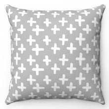 "Load image into Gallery viewer, White Crosses 20"" x 20"" Throw Pillow Cover"