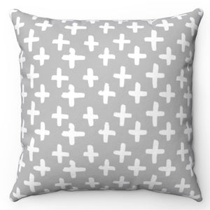 "White Crosses 20"" x 20"" Throw Pillow Cover"