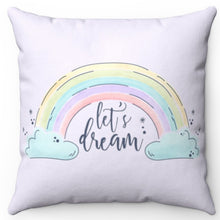 "Load image into Gallery viewer, Let's Dream In Lavender 16"" x 16"" Square Throw Pillow"