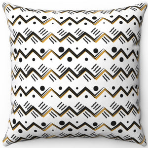 "Boho Style Mountain Pattern 16"" 18"" Or 20"" Square Throw Pillow Cover"