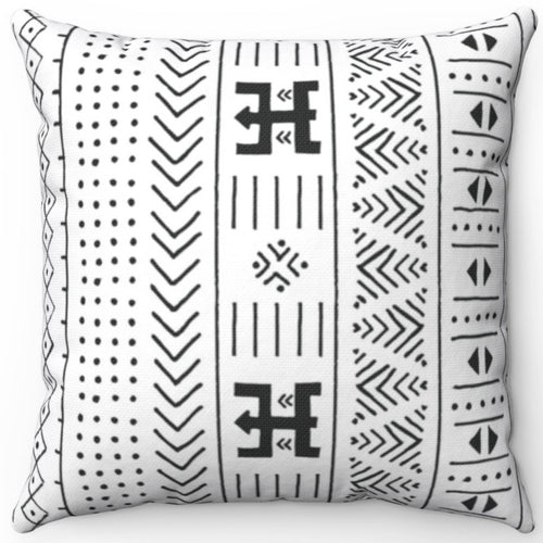 Mudcloth Patterned Black & White 16
