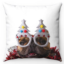 "Load image into Gallery viewer, Bulldog Partier 18"" x 18"" Throw Pillow Cover"