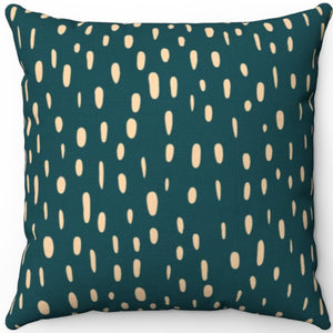 "Sherpa Blue Green Lantern Brush Strokes Pattern 18"" x 18"" Square Throw Pillow"