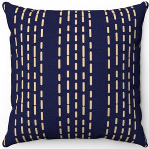 "Geometric Boho Stratosphere Patterned 18"" x 18"" Square Throw Pillow"
