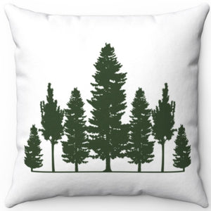 "Treeline Silhouette 16"" 18"" Or 20"" Square Throw Pillow Cover"