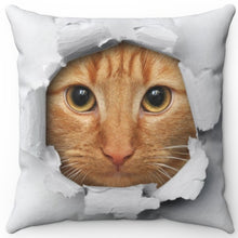 "Load image into Gallery viewer, Peek A Boo Cat 16"" Or 18"" Square Throw Pillow"