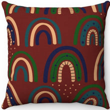 "Load image into Gallery viewer, Bohemian Rainbows Too 18"" x 18"" Square Throw Pillow"