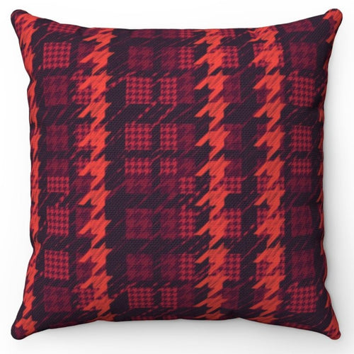 Red Houndstooth Patterned 18