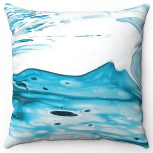 "Blue Psychedelic Printed Design 18"" Or 20"" Square Throw Pillow Cover"
