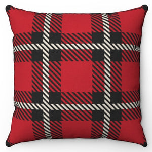 "Red Buffalo Plaid 18"" Or 20"" Square Throw Pillow Cover"