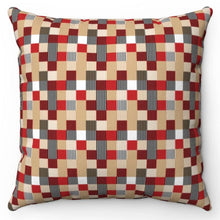 "Load image into Gallery viewer, Modern Buffalo Pattern 18"" x 18"" Throw Pillow"