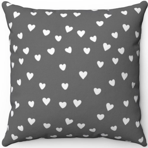 White Hearts On Grey Minimalist Pattern #Eight 16