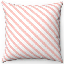 "Load image into Gallery viewer, Diagonal Stripe Pattern In Your Pink 16"" Or 18"" Square Throw Pillow Cover"