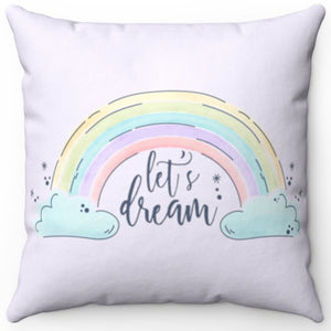 "Let's Dream In Lavender 16"" x 16"" Square Throw Pillow"
