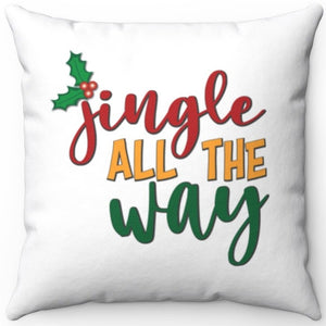 "Jingle All The Way 16"" 18"" Or 20"" Square Throw Pillow Cover"