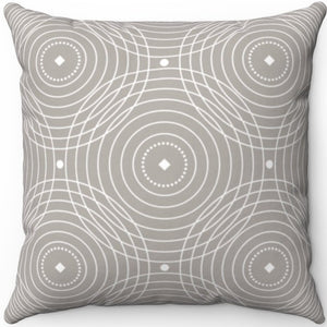 "Delicate Grey & White Filigree Pattern #Seven 18"" x 18"" Square Throw Pillow"