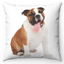"Load image into Gallery viewer, Tina The Posing Bulldog 18"" x 18"" Throw Pillow Cover"