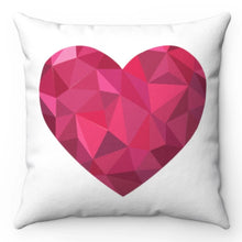 "Load image into Gallery viewer, Big Pink Heart 18"" x 18"" Throw Pillow Cover"