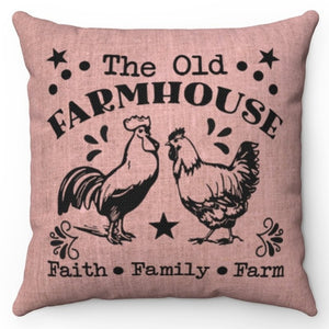 "The Old Farmhouse 20"" x 20"" Throw Pillow Cover"
