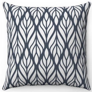 "Dark Gray Wheat Patterned 18"" x 18"" Throw Pillow Cover"