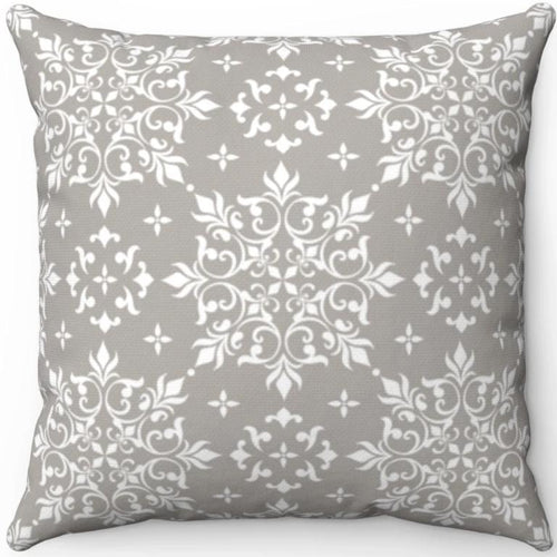 Delicate Grey & White Filigree Pattern #Five 18
