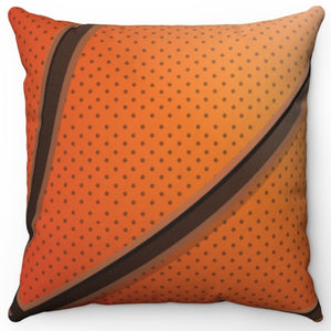 "Basketball 18"" Or 20"" Square Throw Pillow Cover"