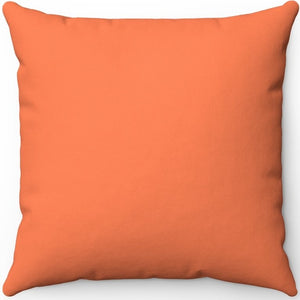 "Orange Coral 16"" 18"" Or 20"" Square Throw Pillow Cover"