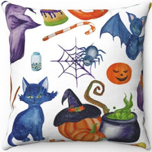 "Load image into Gallery viewer, Halloween Watercolor 18"" x 18"" Throw Pillow"