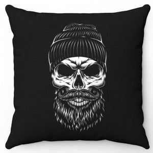 "Vintage Monochrome Lumberjack 18"" x 18"" Throw Pillow Cover"