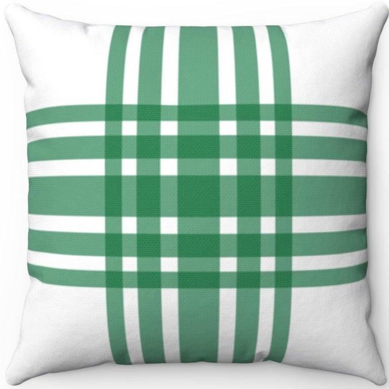 Deconstructed Farmhouse Plaid Green & White 16