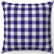 "Load image into Gallery viewer, Dark Blue Plaid 18"" x 18"" Square Throw Pillow"