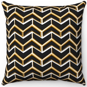 "Fancy Black & Gold Boho Arrows 16"" 18"" Or 20"" Square Throw Pillow Cover"