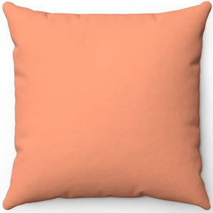 "Light Salmon 16"" 18"" Or 20"" Square Throw Pillow Cover"