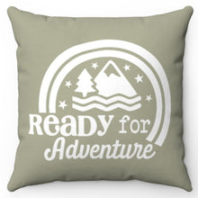 "Load image into Gallery viewer, Ready For Adventure 18"" Or 20"" Screen Printed Throw Pillow Cover"