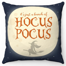 "Load image into Gallery viewer, It's Just A Bunch Of Hocus Pocus 18"" Or 20"" Square Throw Pillow Cover"
