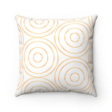 "Load image into Gallery viewer, Golden Circles 18"" x 18"" Throw Pillow Cover"