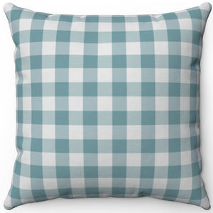 "Retro Dusty Green Plaid 16"" 18"" Or 20"" Square Throw Pillow Cover"