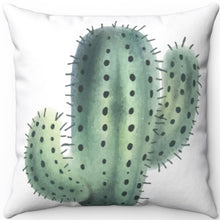 "Load image into Gallery viewer, Prickly Cactus #Two 16"" 18"" Or 20"" Square Throw Pillow Cover"