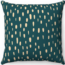 "Load image into Gallery viewer, Sherpa Blue Green Lantern Brush Strokes Pattern 18"" x 18"" Square Throw Pillow"