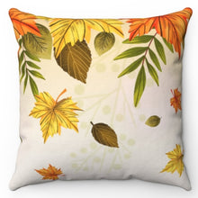 "Load image into Gallery viewer, Falling Autumn Leaves 18"" x 18"" Throw Pillow"