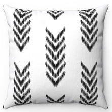 "Load image into Gallery viewer, Boho Scribble Arrow Black & White 18"" x 18"" Pillow Throw Cover"