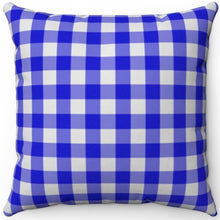 "Load image into Gallery viewer, Blue Plaid 18"" x 18"" Square Throw Pillow"