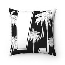 "Load image into Gallery viewer, Black And White LA 18"" x 18"" Throw Pillow Cover"